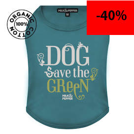 T-Shirt green dog